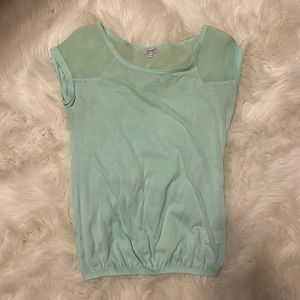 Ladies shirt mint green great condition
